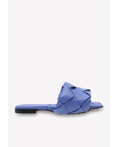 Bottega Veneta Leather Bv Lido Mules in Light Blue (Blue
