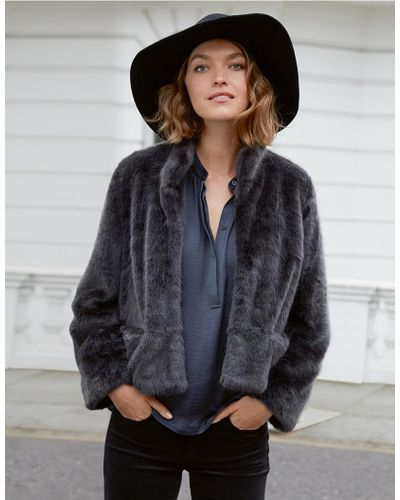 The White Company Faux Fur Jacket In, Fur Coat White Company