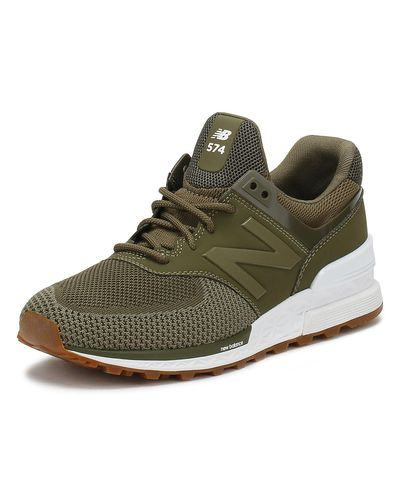 New Balance Synthetic 574 Olive Trainers in Green for Men - Lyst