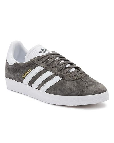 adidas Suede Gazelle Mens Grey Trainers in Gray for Men - Lyst