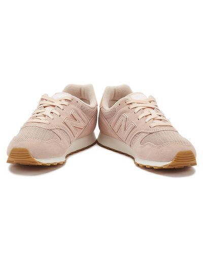 New Balance 373 Womens Pink Suede Trainers - Lyst