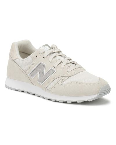 New Balance Suede Womens Beige 373 Trainers - Lyst
