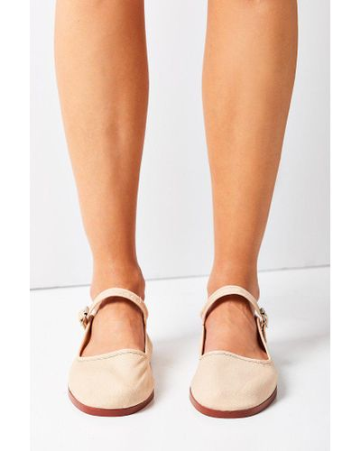 Urban Outfitters Cotton Mary Jane Flat Lyst