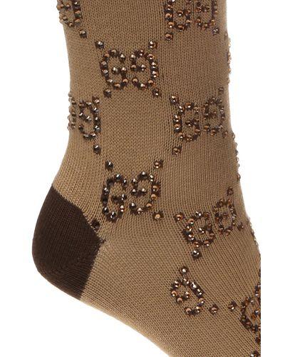 Gucci Cotton GG Intarsia Socks - Lyst
