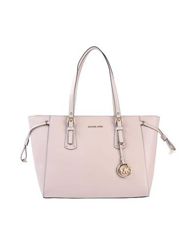 Michael Kors Leather Handbag In Light