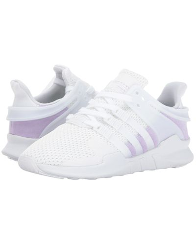adidas Originals Synthetic Eqt Support Adv (white/white/purple Glow ...