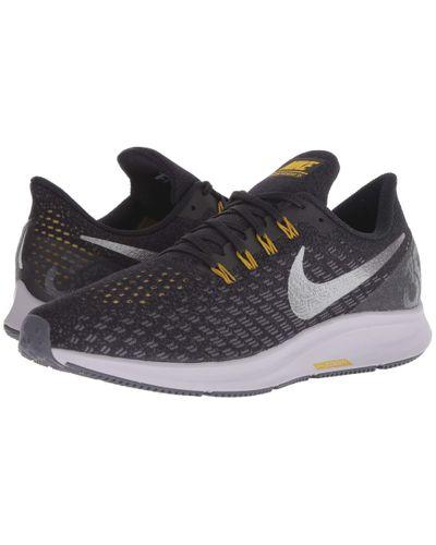 Nike Rubber Air Zoom Pegasus 35 (black/metallic Gold/university ...