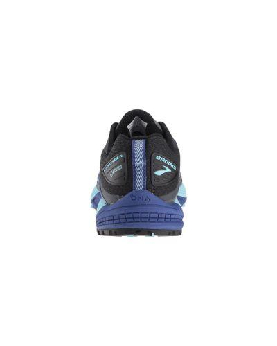 Brooks Cascadia 12 GTX Womens Trail Running Shoes Black//Ebony//Blue