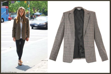 LOOK OF THE DAY: CHECKED BLAZER JACKET