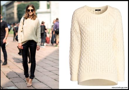 LOOK OF THE DAY: H&M White Knitted Jumper