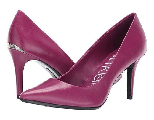 42e1c3c04 Calvin Klein Gayle Pump (magenta Varnished Crackle) High Heels in Purple -  Save 22% - Lyst