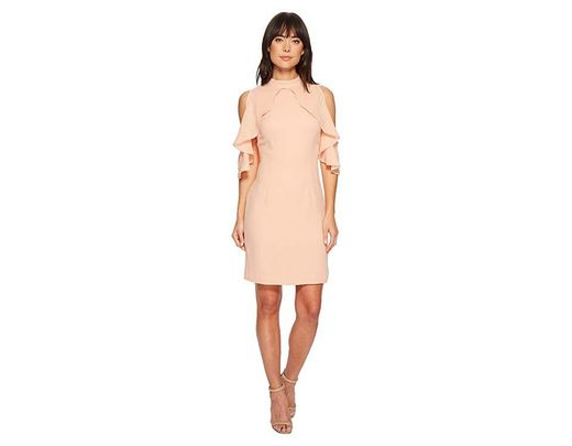 287194ac Catherine Malandrino Fern Ruffle Front Sheath Dress (pink Sand) Dress in  Pink - Save 41% - Lyst