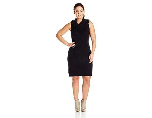 Women\'s Black Plus-size Renton Turtleneck Dress