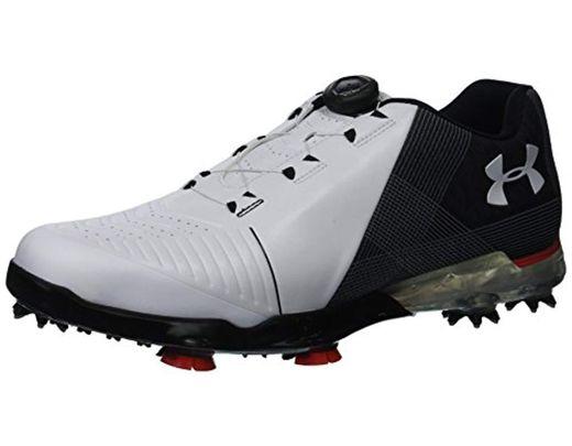 8e538ea0eea32 Men's Black S 2018 Ua Spieth 2 Boa Golf Shoes