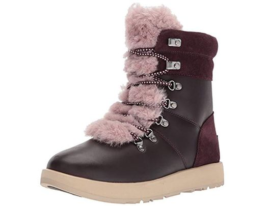 b89a3772c7e1 Lyst - UGG Women s Viki Waterproof Leather Lace Up Boots - Save 30%