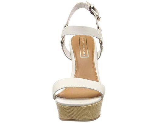 Wedge De Leather Plataforma Blanco Color Con Mujer Para Elevated SandalSandalias 7bvfyI6Yg