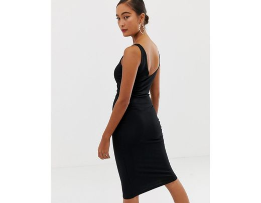 Moulante Mi Longue Robe Noir Femme xeQdCoBrW