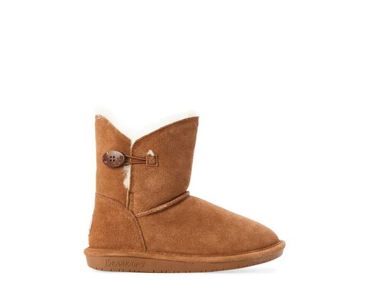 4d469eb2bc1 Women's Brown Hickory Rosie Button Real Fur Boots