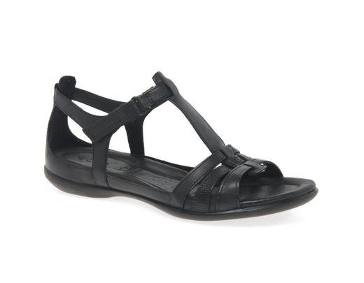 Ii Womens Leather Sandals Black Flash 6gyvbf7Y