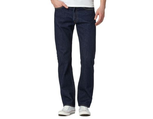 c1c64ccb9ee Levi's Big And Tall Dark Blue One Wash '501' Straight Jeans in Blue for Men  - Lyst