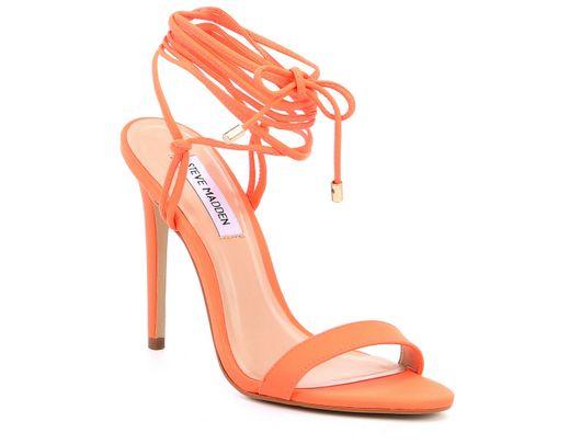 90933c300f0 Women's Orange Level Neon Tie Up Strappy Sandals