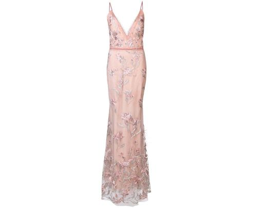 ea3ce46ce53 Marchesa notte Feather Embroidered Sleeveless Gown in Pink - Save 38% - Lyst