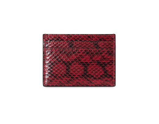fa5120cf9e Gucci Ophidia Snakeskin Card Case in Red - Lyst
