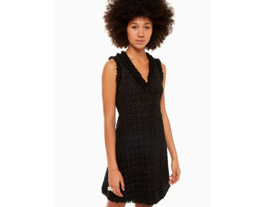 915f4baff9 Lyst - Kate Spade Sparkle Tweed Dress in Black - Save 40%