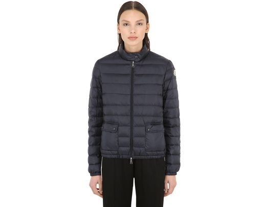 3201764c5 Moncler Lans Longue Saison Nylon Down Jacket in Blue - Lyst