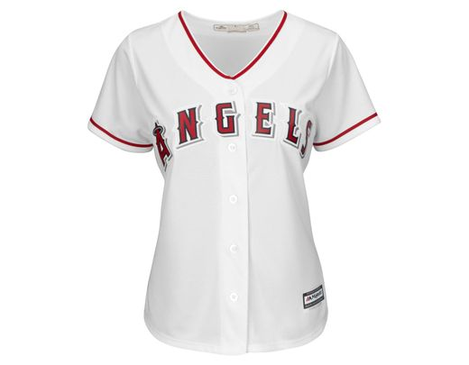 new style 7bad9 0d2cf White Majestic Women's Mike Trout Los Angeles Angels Of Anaheim Replica  Jersey