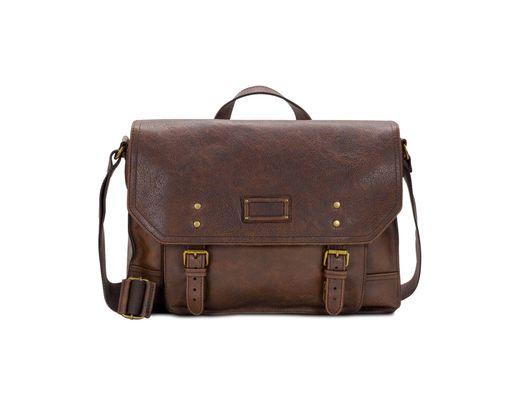 18bbf0307430 Men's Brown Nash Tuscan Ii Leather Messenger Bag