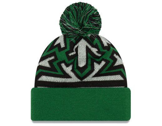 f845c69e9 Men's Green Boston Celtics Glowflake Cuff Knit Hat