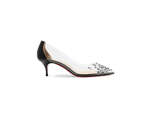 bc1c23f1652 Women's Black Collaclou 55 Spiked Pvc And Patent-leather Pumps