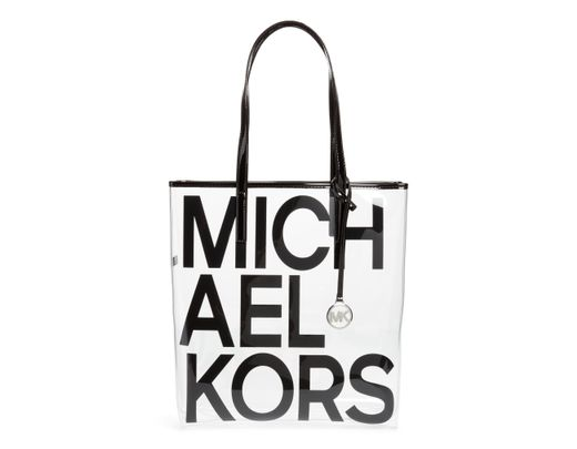 d9f5bc5eb18d Michael Kors North/south Transparent Tote in Black - Lyst