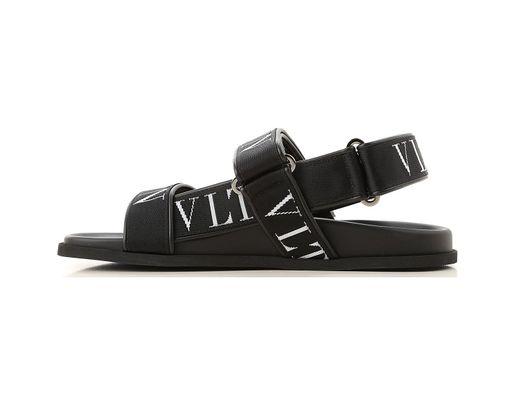 Pour Noir En Sandale Homme Valentino Coloris Lyst ZiOuTXkP