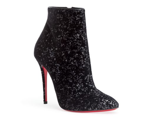 060c2feb74e8 Lyst - Christian Louboutin Eloise 100 Black Velvet Glitter Boots in ...