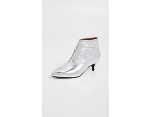 1315d3cd986f Lyst - Jeffrey Campbell Zosia Low Heel Booties in Metallic - Save 70%