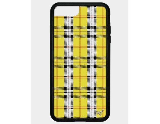 super popular 42c69 d8799 Women's Yellow Plaid Iphone 6+/7+/8+ Plus Case