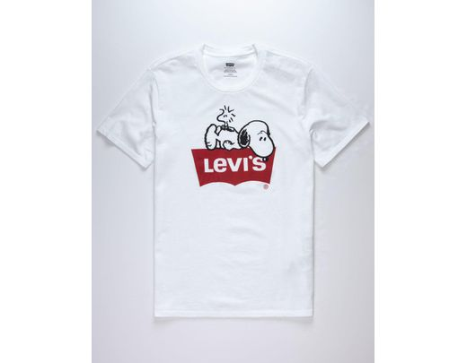 eb26dffa1dd Levi's X Peanuts Snoopy & Woodstock Mens T-shirt in White for Men - Lyst