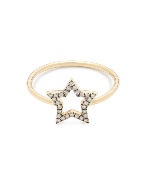 J.Crew | Metallic Rosa De La Cruz London 18k Gold And Diamond Small Star Ring | Lyst