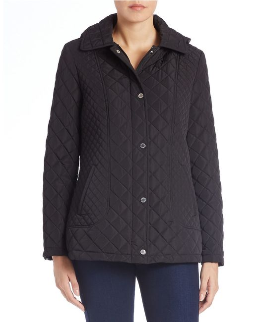 Calvin Klein | Black Fitted Quilted Jacket | Lyst