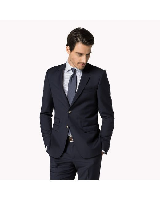 Tommy Hilfiger | Blue Rebel Wool Fitted Blazer for Men | Lyst
