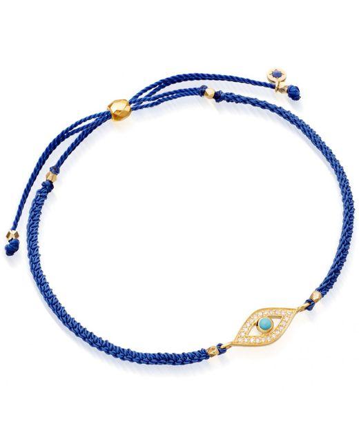 Astley Clarke   Blue Evil Eye Skinny Biography Bracelet   Lyst