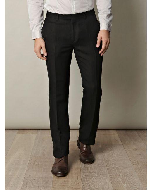 John Varvatos | Black Wool-blend Trousers for Men | Lyst