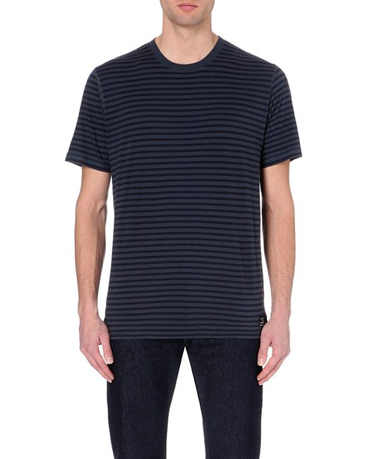 Paul Smith | Blue Striped Cotton T-shirt for Men | Lyst