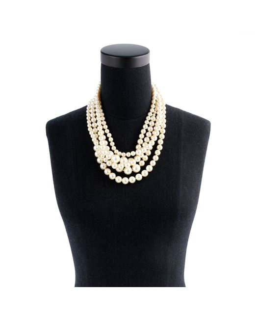J.Crew | White Pearl Twisted Hammock Necklace | Lyst