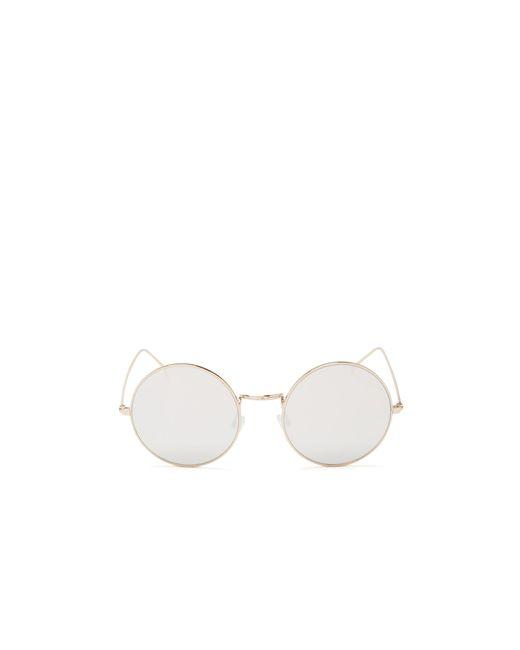 Illesteva | Gold Porto Cervo Round Sunglasses, 50mm | Lyst