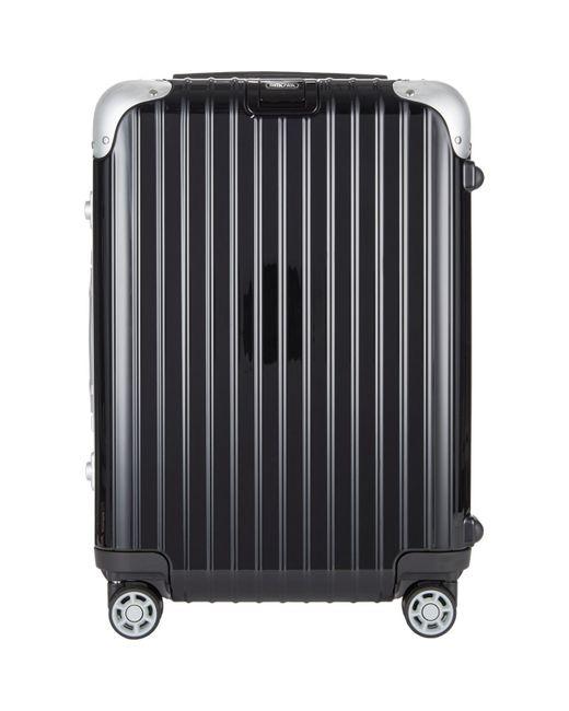 rimowa limbo 22 cabin multiwheel iata suitcase in black