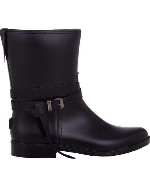 barneys new york s leather belt boots in black