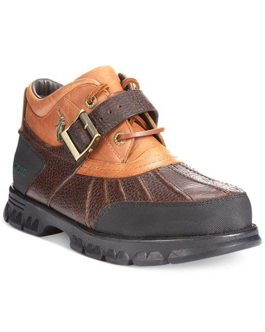 Polo Ralph Lauren Dover Duck Boots In Brown For Men Tan